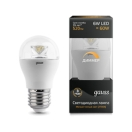 Лампа Gauss LED Globe-dim Crystal Clear 6 Вт 105202106-D