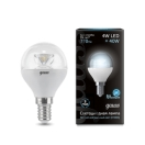 Лампа Gauss LED Globe Crystal Clear 4 Вт 105201204